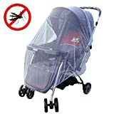 2 PCS NETTING 2 Ways Usage:1)Outdoor Baby Stroller Bug Net for Strollers Pushchair Mosquito Insect Shield Net Safe Infants Protection Mesh 2)Bug Net For Crib Bed Craddle