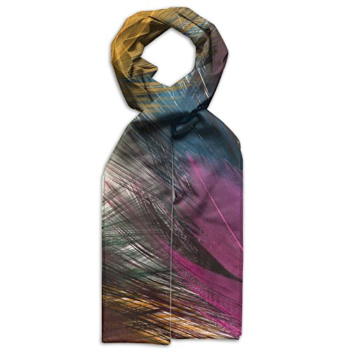 Price comparison product image Beautiful Colorful Feather Youth Gift Evening Graffiti Warm Scarf