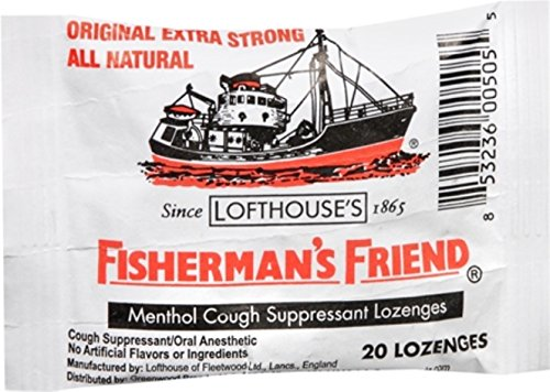 Fisherman's Friend Lozenges Original Extra Strong 20 Each (Pack of 6) (Best Lozenges For Sore Throat Uk)