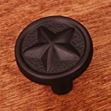 R.K. International CK 209 RB Rki - Oil Rubbed Bronze Rugged Texas Star Knob