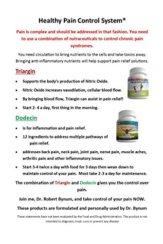 Dodecin: Natural Pain Relief Supplement that Reduces Inflammation. Addresses Joint Pain, Back Pain, Knee Pain, Neck Pain, Neuropathy (Nerve Pain) with 12 Ingreditents Including Curcumin (Tumeric), Glucosamine, MSM, Boswellia and more 90 capsules