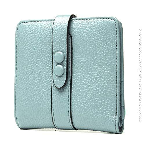 Wallet Rose Des Hommes Pour Mme Couleur En Portefeuille Candy Court couleur Vert Wenzhihua Litchi Cuir Pattern Bqa7S6pwWw
