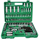 "94PC SOCKETS 1/2"" + 1/4"" DR CHROME VANADIUM SOCKET SET"