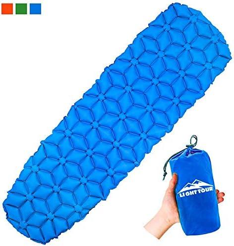TZ Isomatte Camping Schlafmatte Aufblasbare Luftmatratze Camping,selbstaufblasbare Matratze Outdoor tragbares Camping Isomatte Kleines Packmaß - für Camping- Wandern Hängematten Zelt