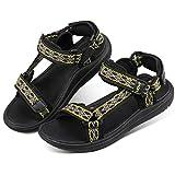 UOVO BoysUOVO Boys Sandals Hiking Outdoor Open-Toe Beach Sandals Kids Summer Shoes (2 M US Little Kid, Black)