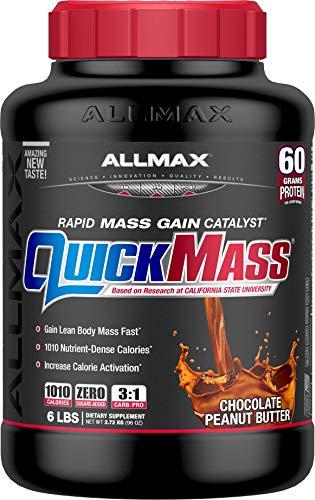(ALLMAX Nutrition QuickMass Rapid Mass Gain Catalyst, Peanut Butter Chocolate, 6 lbs)