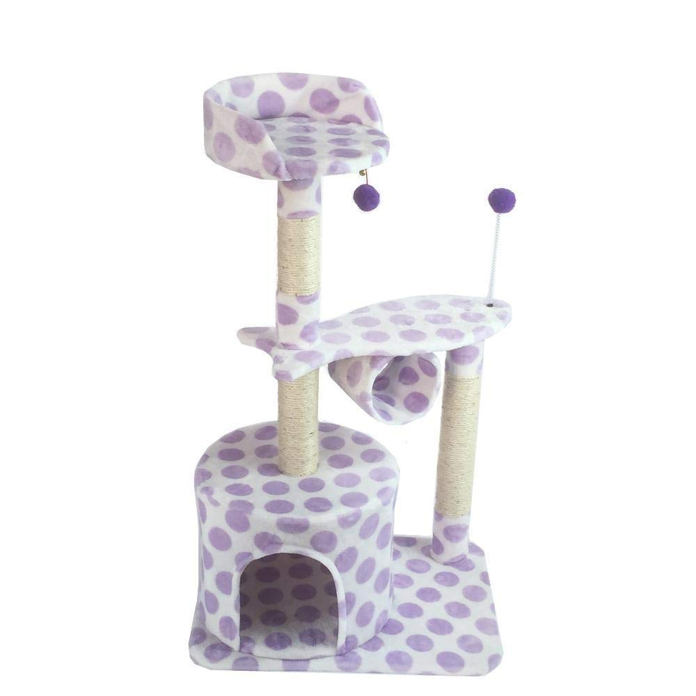 A Deluxe Multi Cat Tower Creative Play Towers Trees for Cats Pet cat Toy Grab Table Cat Scratch Board Platform Cat Nest House cat Tree 56  41  99cm Sheet Rope Flannel (color   A)