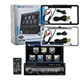 Soundstream VIR-7830B 1-DIN Single DIN 7'' Touchscreen DVD Car Stereo Bluetooth + Wireless Remote & DCO Waterproof Backup Camera with Nightvision (Optional Color)