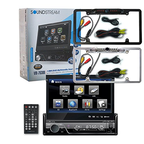 "Soundstream VIR-7830B 1-DIN Single DIN 7"" Touchscreen DVD Ca"