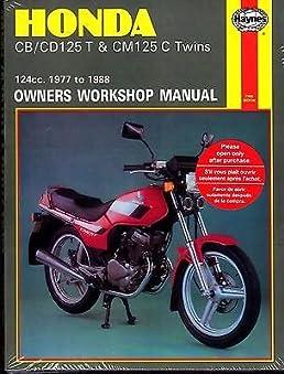 1977 1988 honda cb cd125 t cm125 c twins owners service manual rh amazon com Honda 125 Motorcycle honda cm 125 workshop manual
