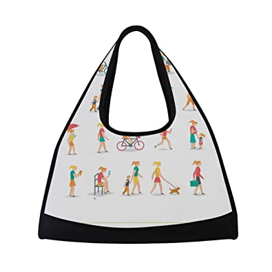 6f9e4471a592 Amazon.com: Duffel Bag People Collection Shoulder Yoga Gym Tote Bags ...