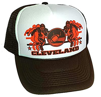 Cleveland Football Mesh Trucker Hat Cap