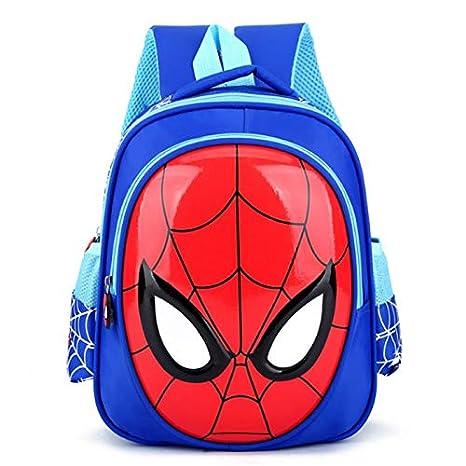 Mochila Escolar para niños2019 3D 3-6 Escuela Bolsa Niño Impermeable Mochila Niños Spider-