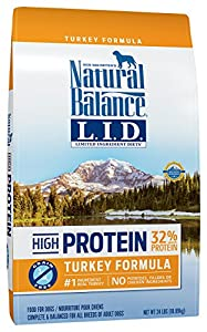 Natural Balance Limited Ingredient Diets High Protein Dry Dog Food, Turkey Formula, Grain Free, 24-Pound