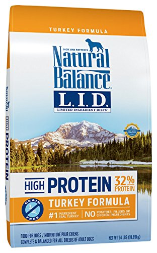 Natural Balance Limited Ingredient Diets High Protein Dry Dog Food, Turkey Formula, Grain Free, 24-Pound by Natural Balance