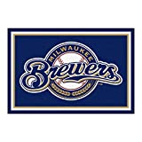 FANMATS MLB Milwaukee Brewers Nylon Face 5X8 Plush Rug