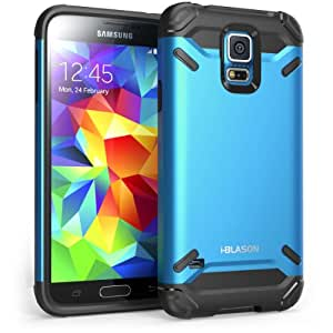 i-Blason Samsung Galaxy S5 Case - Armadillo Series 2 Layer Armored Hybrid Cover with Inner Soft Case and Hard Outter Shell AT&T, Verizon, Sprint, T-Mobile (Galaxy S5, Blue)