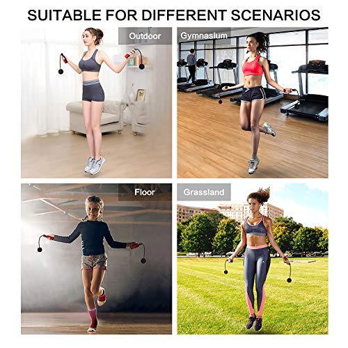 Ropeless Jump Rope Adjustable Skipping Rope Jumping Rope for Women Men and Kids Weighted Cordless Jump Rope for Fitness Workout