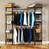 Expandable Closet Organizer, Constructed of Steel Wire and Plated with Bronze Epoxy Which Provides an Elegant Finish for Your Home by Seville Classics
