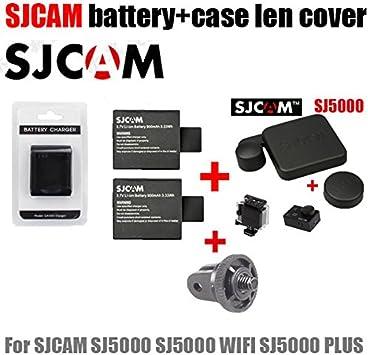 MU accesorios SJ5000 cargador + 2pcs tapas de batería sj4000 SJCAM + caja estanca SJ5000 tapa len + adaptador para SJ 5000 wifi más: Amazon.es: Electrónica