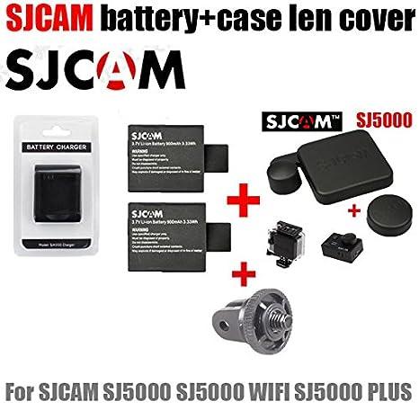 MU accesorios SJ5000 cargador + 2pcs tapas de batería sj4000 ...