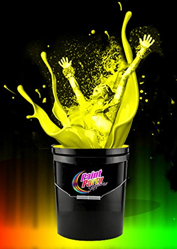 5-Gallon Washable Neon Uv Glow Paint - Yellow by Paint Party Supplies (Image #1)