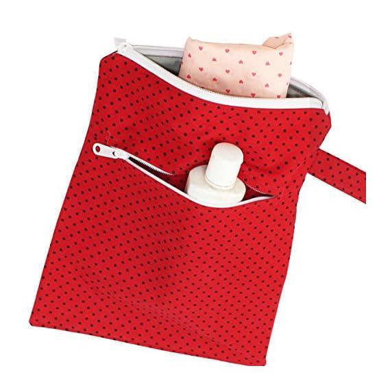 Kadambaby Wet Travel Bag for Baby (Red)