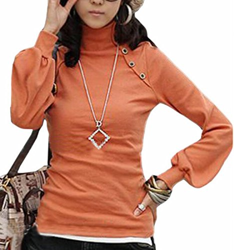 Flare Turtleneck (Generic Women's Slim Fit Turtleneck Flare Bell Sleeve T-Shirts Tops 1 OS)