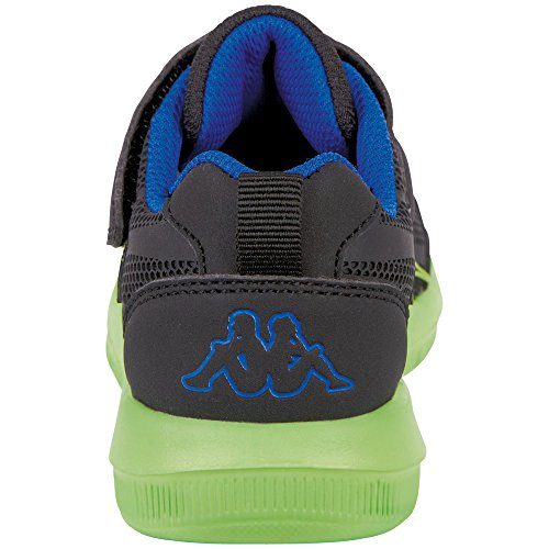 Kappa Unisex-Kinder Bang Kids Sneaker Schwarz (1133 Black/Lime)