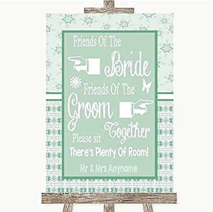 Cartel de boda verde de invierno para novios y novios con ...