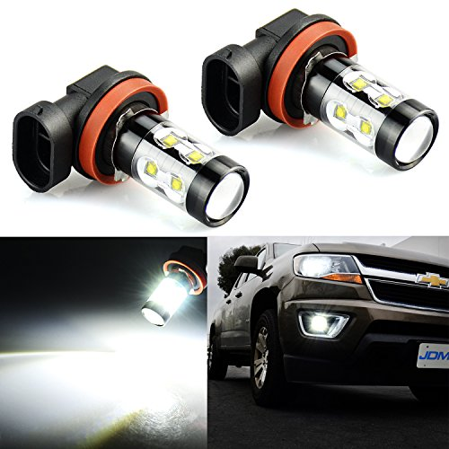 Bright Max 50W High Power H11 LED Fog Light Bulbs for DRL or Fog Lights, Xenon White ()