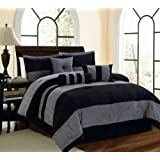 3e0303b00b Amazon.com: 7 PC Modern HOT PINK BLACK WHITE Micro Suede DUVET COVER ...