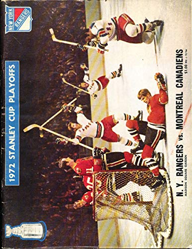 1972 stanley Cup playoff Program Rangers vs Canadians unscored nhl1