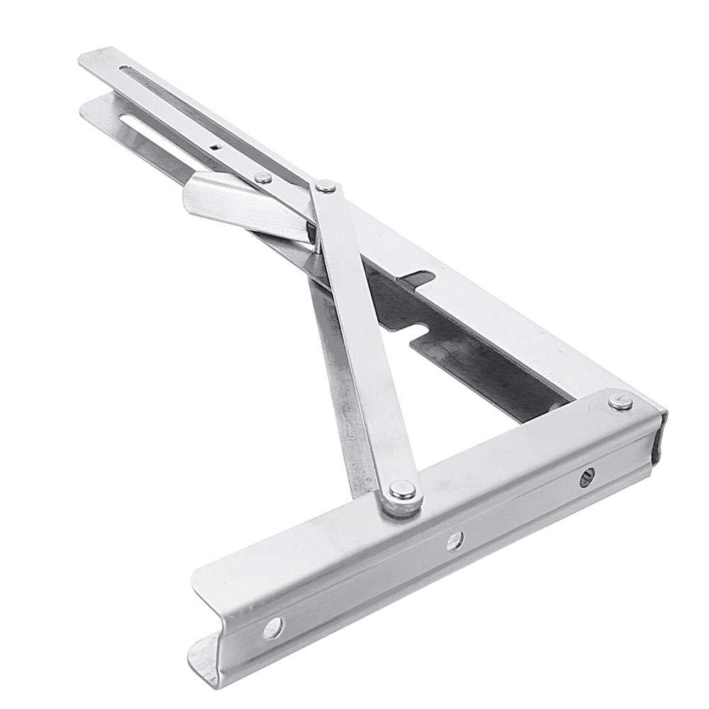 Anddod 2Pcs 8 10 12 14 16 16 16 Inch Folding Triangle L-Shaped Storage Shelf Support Bracket Stainless Steel B07Q4F7WSP Klappmesser Stabile Qualität c22c9b