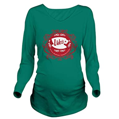 9725c1b5 CafePress Luke's Diner Coffee Gilmore Girls Long Sleeve Maternity T-Shirt,  Cute and Funny