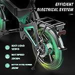 HITWAY-Bici-elettrica-Leggera-da-250-W-Pieghevole-elettrica-con-pedalata-assistita-con-Batteria-da-75-Ah-16-Pollici-per-Adolescenti-e-Adulti