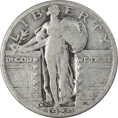 1929-D 25c Standing Liberty Silver Quarter Average Circulated (1929 Liberty Standing Quarter)