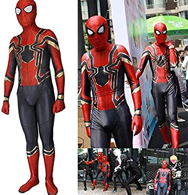 Negro Rojo Spider-Man Superhéroe Niños Hombres Niños Disfraz ...