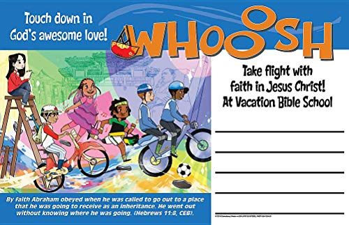 Vacation Bible School (VBS) 2019 WHOOOSH Outdoor Banner: Take Flight to Where God Leads You!]()
