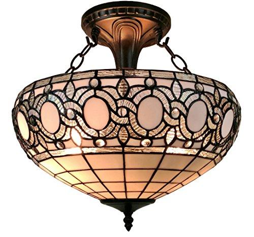 Tiffany style ceiling light fixture flush mount