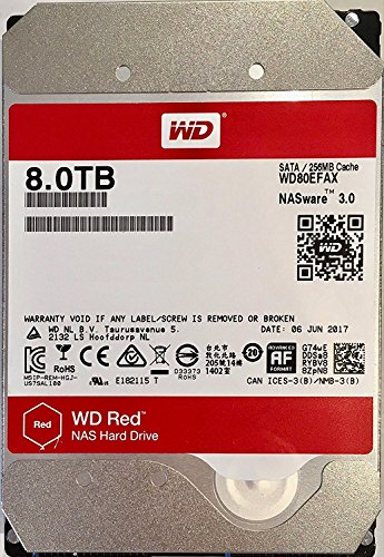 d 8tb NAS hard drive 256MB Cache WD80EFAX ()