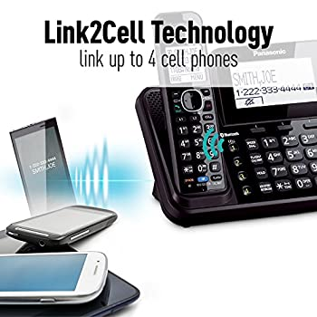 Panasonic Kx-tg9542b Link2cell Bluetooth Enabled 2-line Phone With Answering Machine & 2 Cordless Handset 4