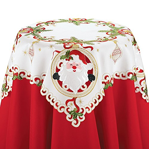 Collections Etc Christmas Santa Claus Table Linens, Square by Collections Etc