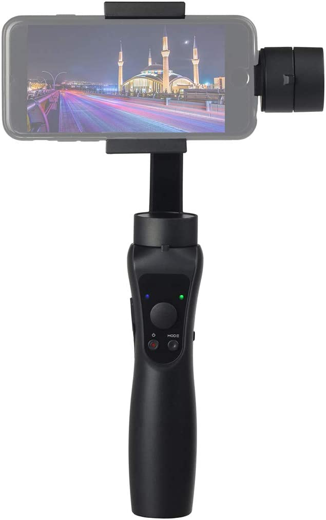 Black Durable Color : Black S5 3-Axis Stabilized Handheld Gimbal Stabilizer for Smartphones