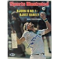 $94 » Bjorn Borg signed Sports Illustrated Full Magazine 7/11/1977 minor smudge- Beckett/BAS #Q75351 (Wimbledon) - Beckett Authentication