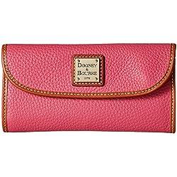 Dooney & Bourke Pebble Grain Continental Clutch, Hot Pink