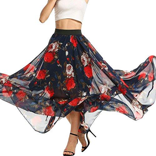 Polka Dot Tulle Skirt (Eshion Women's Polka Dot Elastic High Waist Summer Chiffon Maxi Skirt)