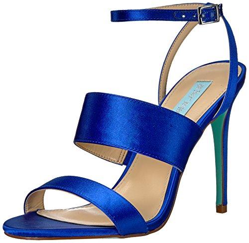 Blue by Betsey Johnson Women's Sb-Jenna Dress Sandal, Blue Satin, 9 M US