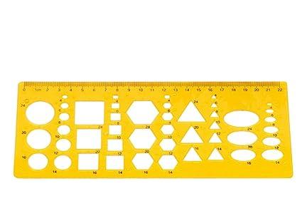 RZDEAL Stencil Template Circle Square Hexagon Ellipse Triangle Symbols  Shape Artist Design Drawing Aid Tool
