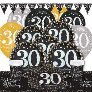 Brillante celebración 30 cumpleaños fiesta Pack para 8 ...
